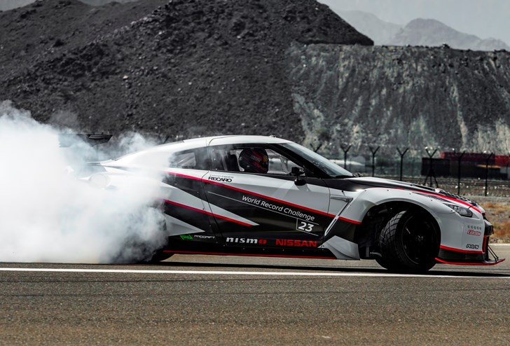 Nissan GT-R Shatters Guinness Record For World's Fastest Drift