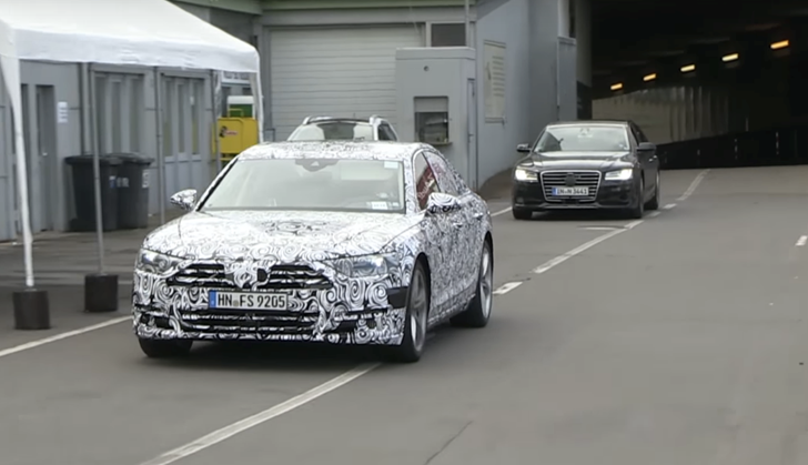 2018 Audi A8 Testing At The Nurburgring
