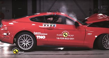 2018 Ford Mustang Gets Improved 3-Star EuroNCAP Rating