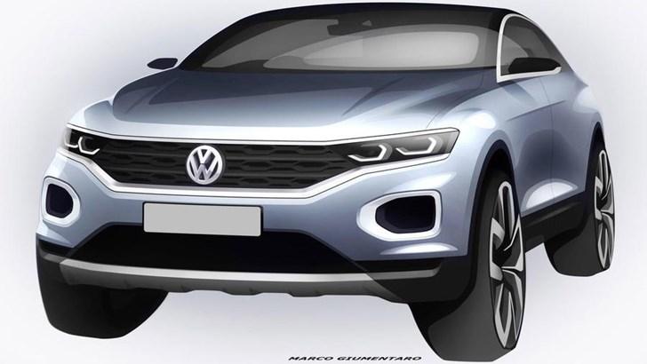 2018 Volkswagen T-Roc Sketch Reveals Some Details