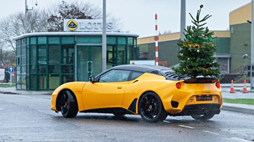 Lotus Takes Their Christmas Tree Drifting Around Hethel – Video