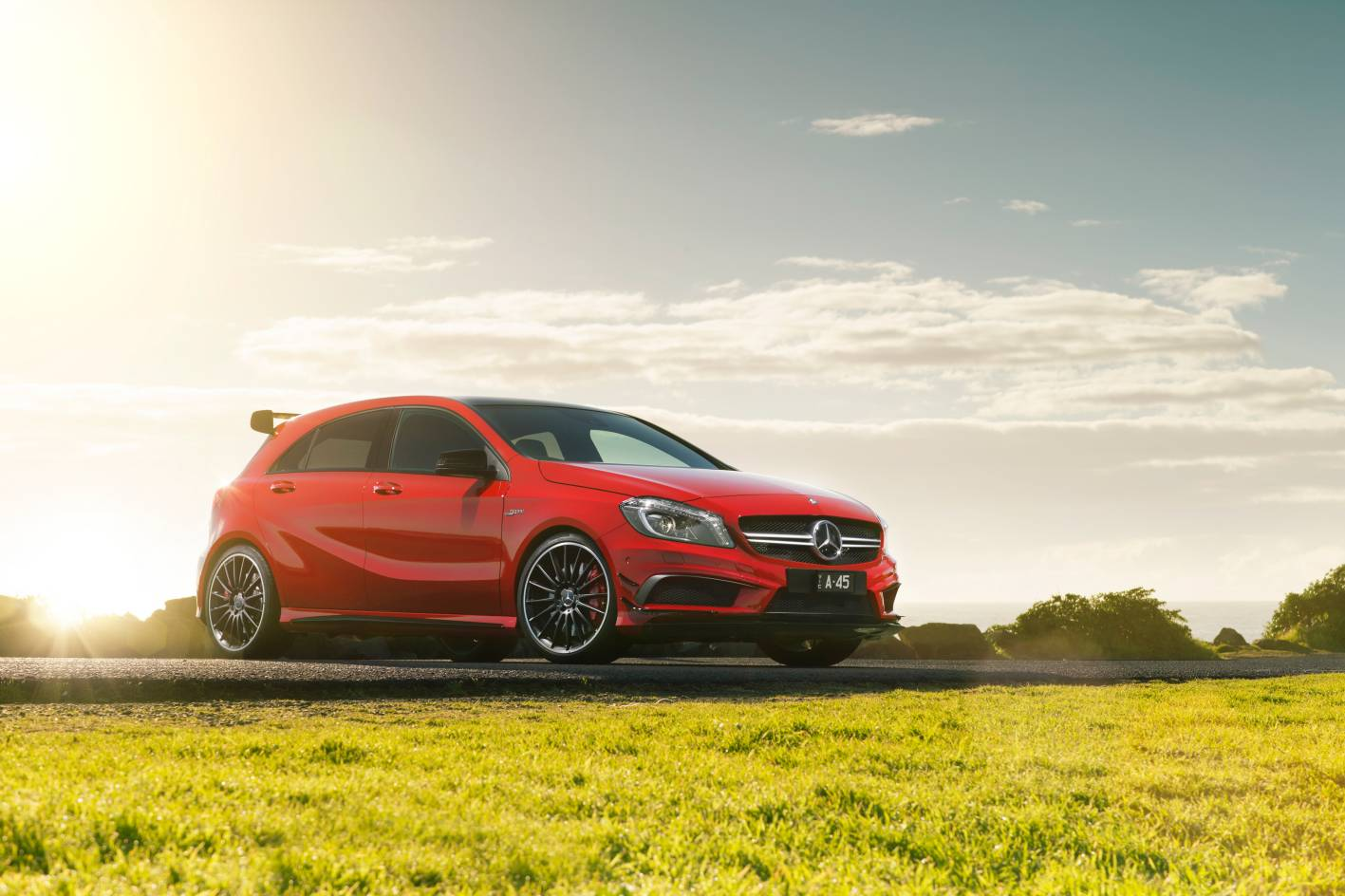 Review 2013 mercedes benz a 45 amg first drive and review for Pros and cons of owning a mercedes benz