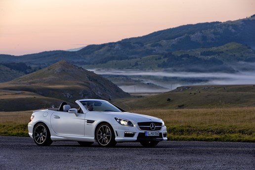 2011 MERCEDES-BENZ SLK 2D CONVERTIBLE 55 AMG