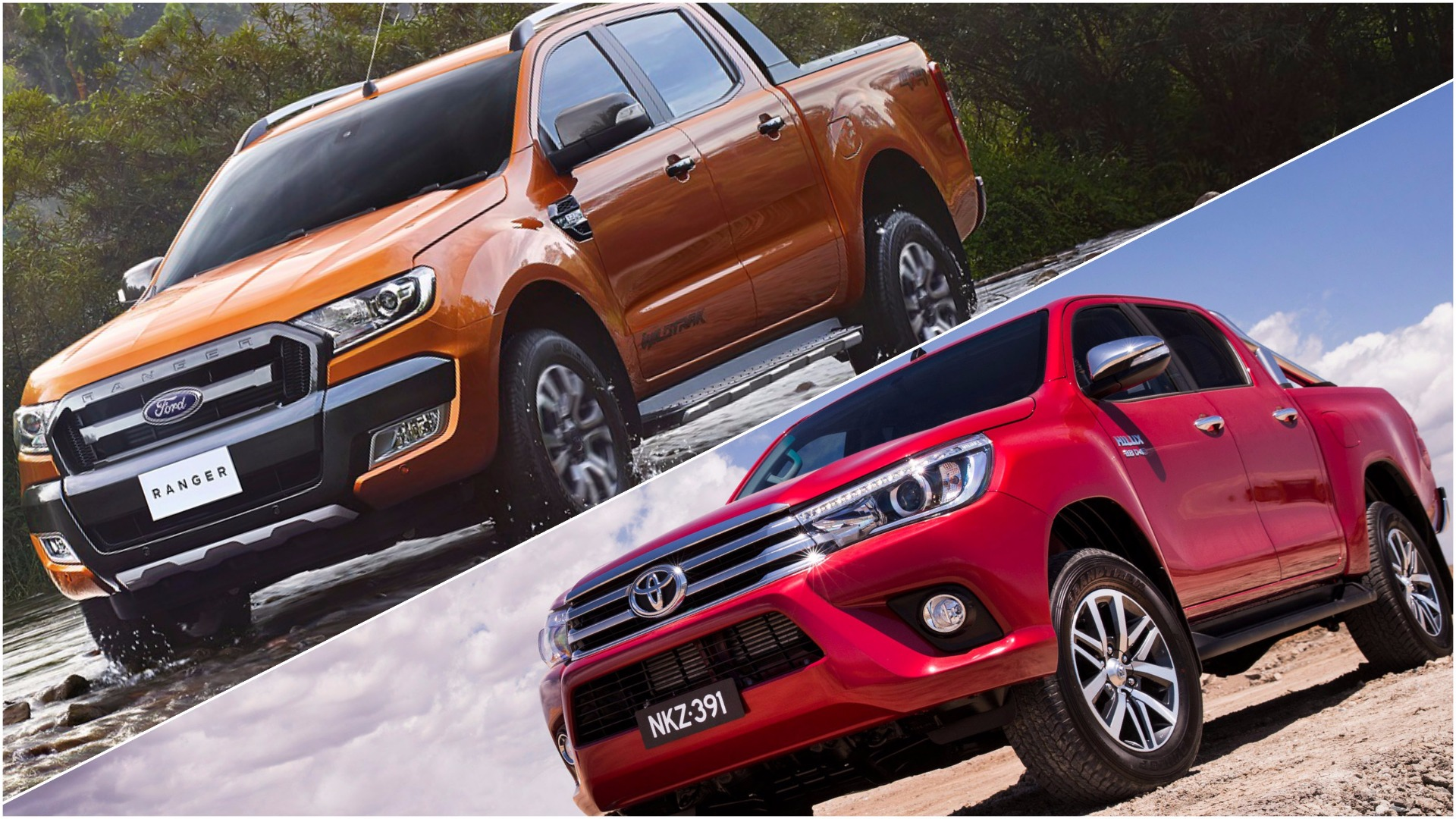 review 2016 ford ranger wildtrak vs 2016 toyota hilux sr5. Black Bedroom Furniture Sets. Home Design Ideas
