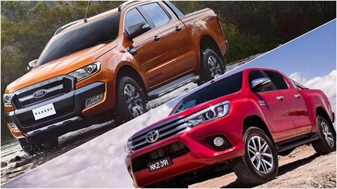 2016 Ford Ranger Wildtrak vs 2016 Toyota HiLux SR5