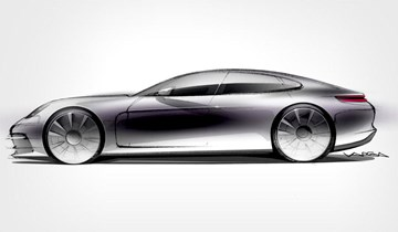 All-New 2017 Porsche Panamera Teased In Sketch
