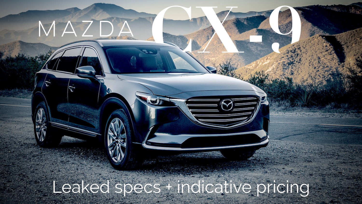 2016 Mazda CX-9 Australian Pricing, Details Leaked