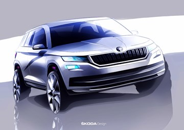 Skoda Previews All-New Kodiaq In Sketches