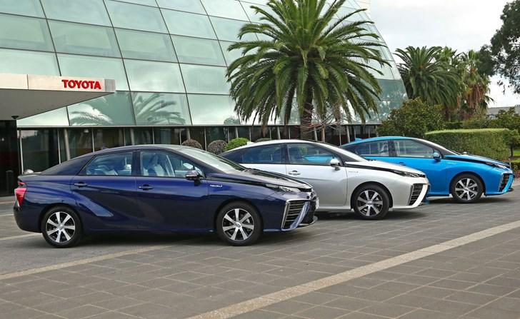 Toyota Australia Welcomes Three Mirai Hydrogen FCVs