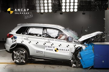 Suzuki Vitara Scores 5-Star ANCAP Safety Rating