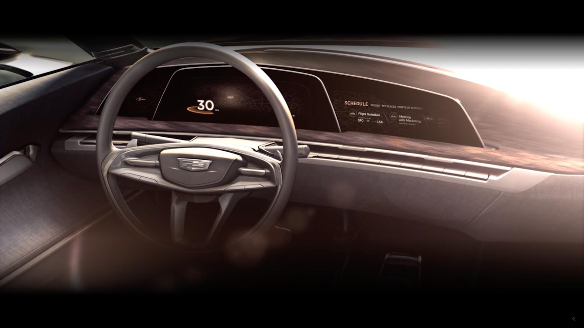 Cadillac Oled Virtual Dashboard Concept Teaser