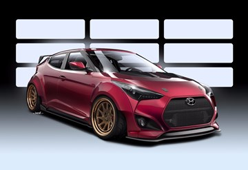 Hyundai To Field Outrageous Veloster Concept At SEMA