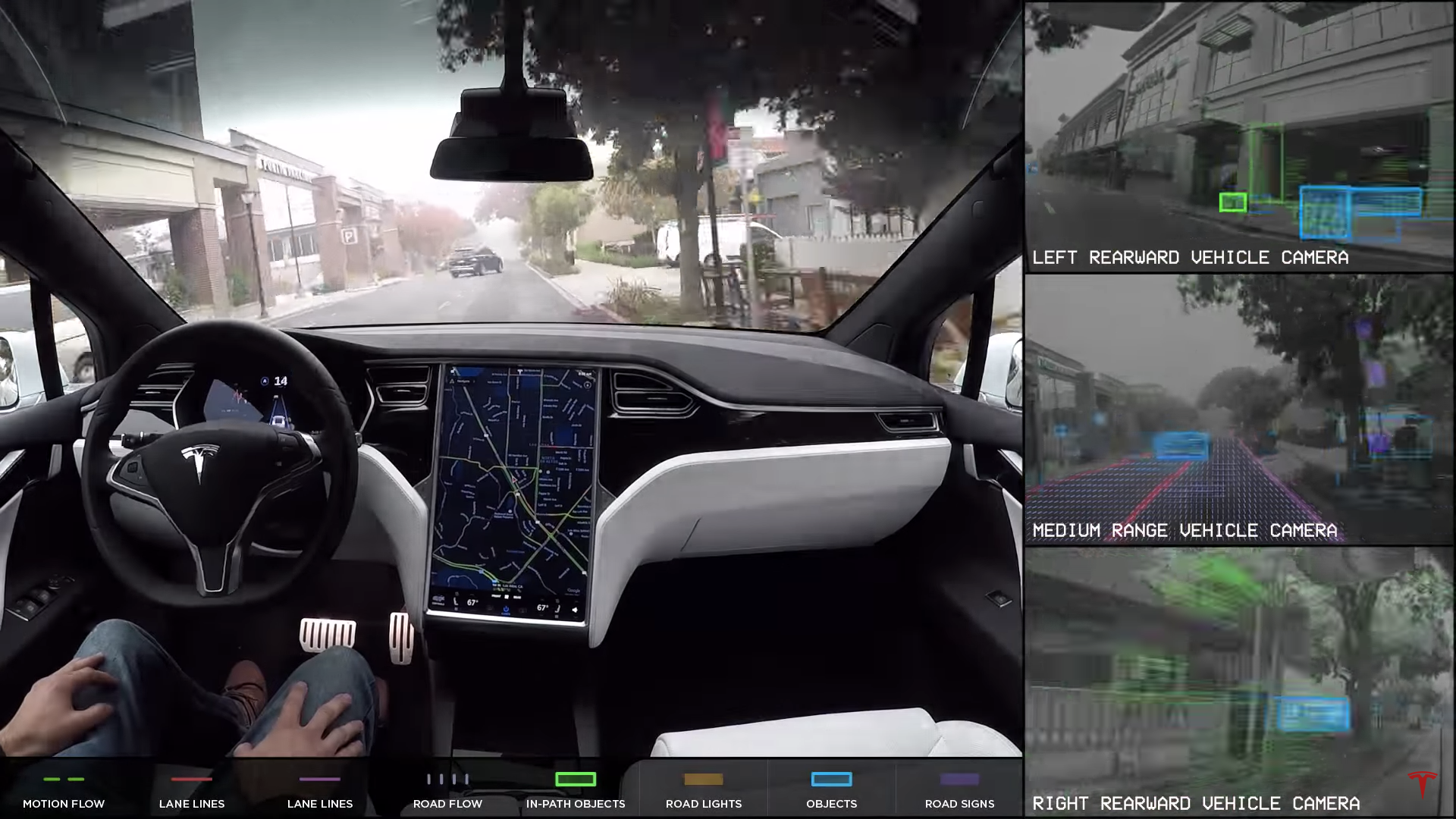 News Tesla Shows You What Its Upgrades Autopilot System Sees