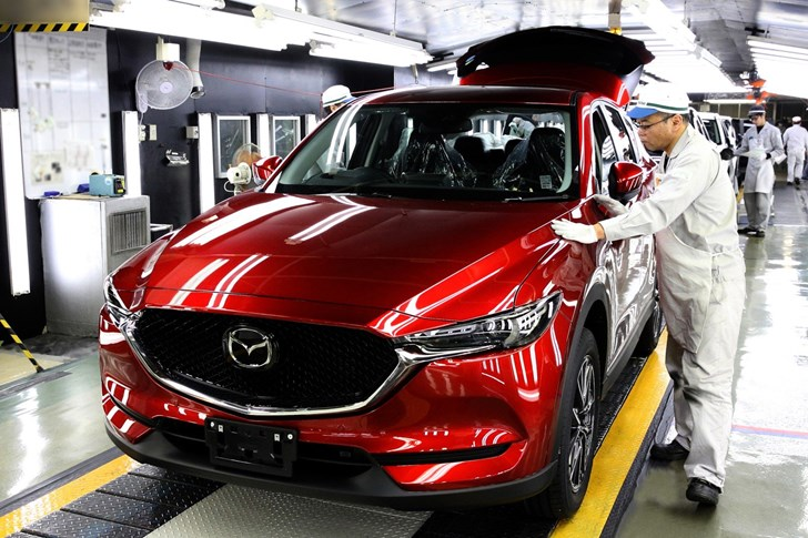 2017 Mazda CX-5 Enters Production