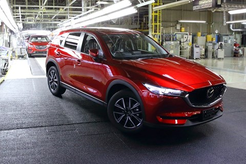 2017 Mazda CX-5 Enters Production