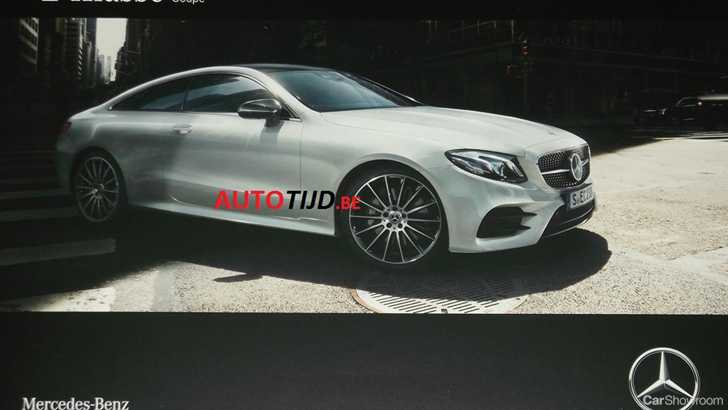 News 2017 mercedes benz e class coupe leaked in brochure for Mercedes benz e class brochure