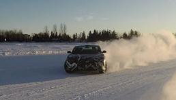 Lucid Air: Sideways in the Snow