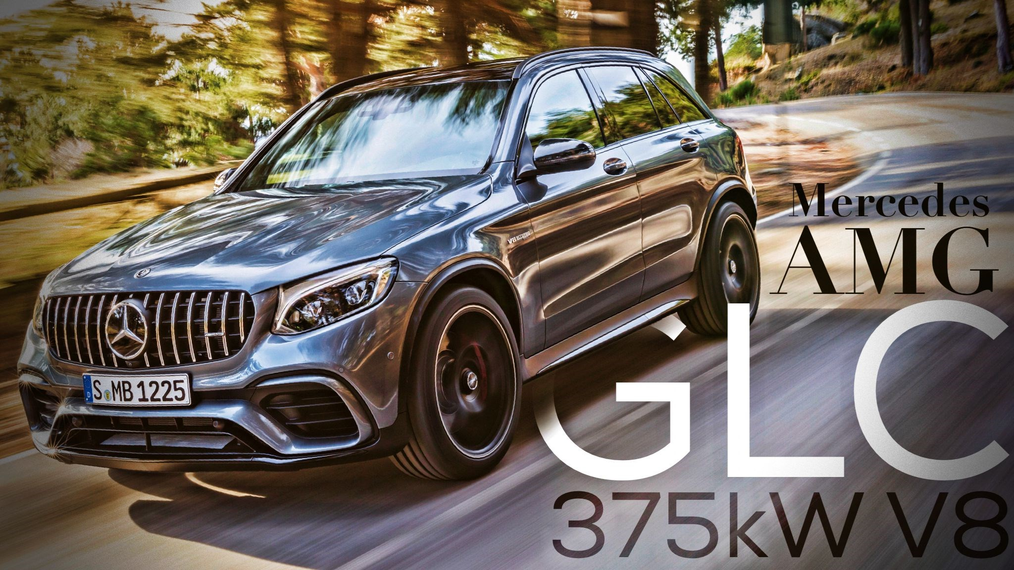 V8-Powered Mercedes-AMG GLC 63 Revealed Ahead Of NYIAS