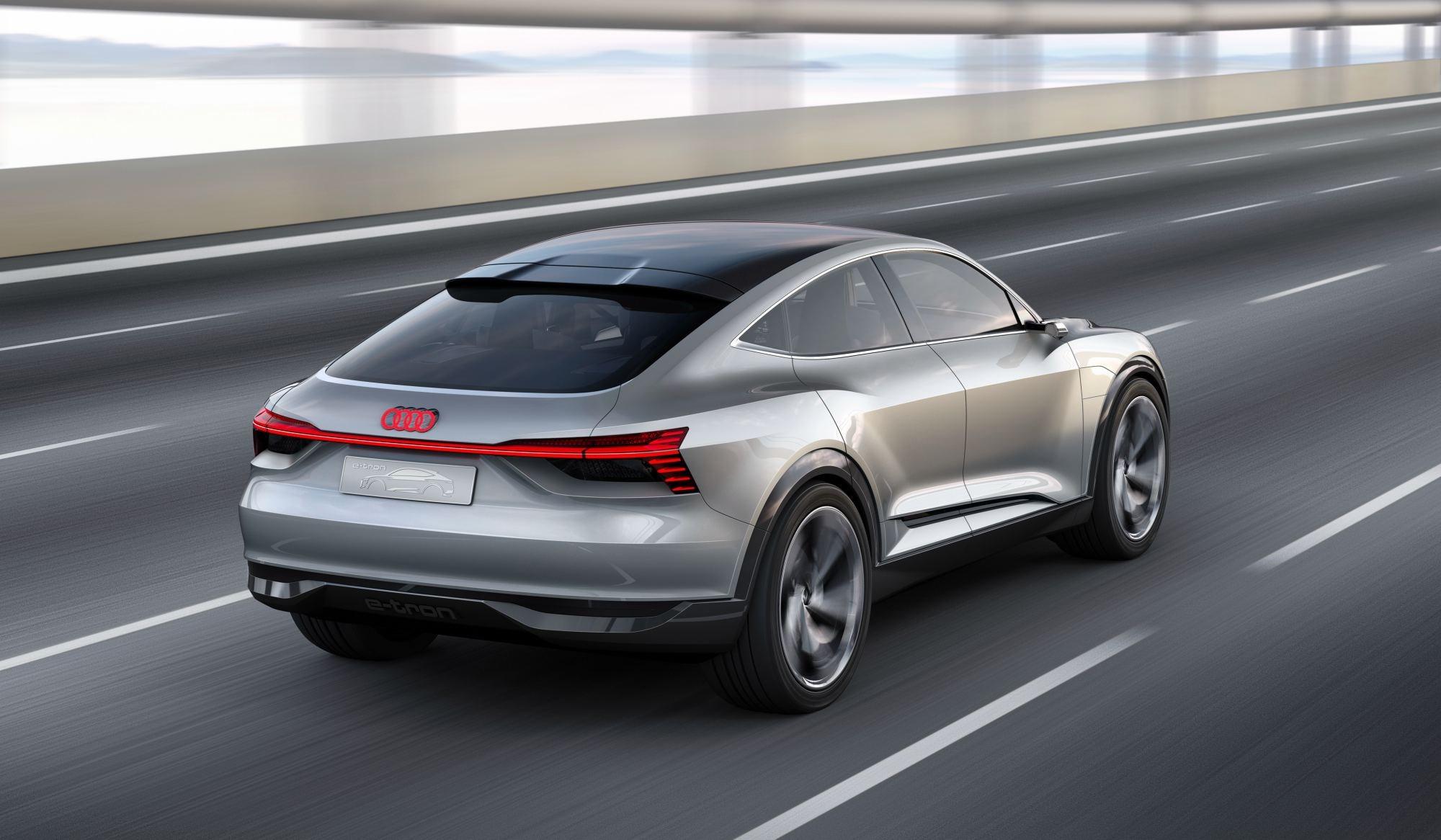Audi Unveils Futuristic e-tron Sportback Concept Thumbnail