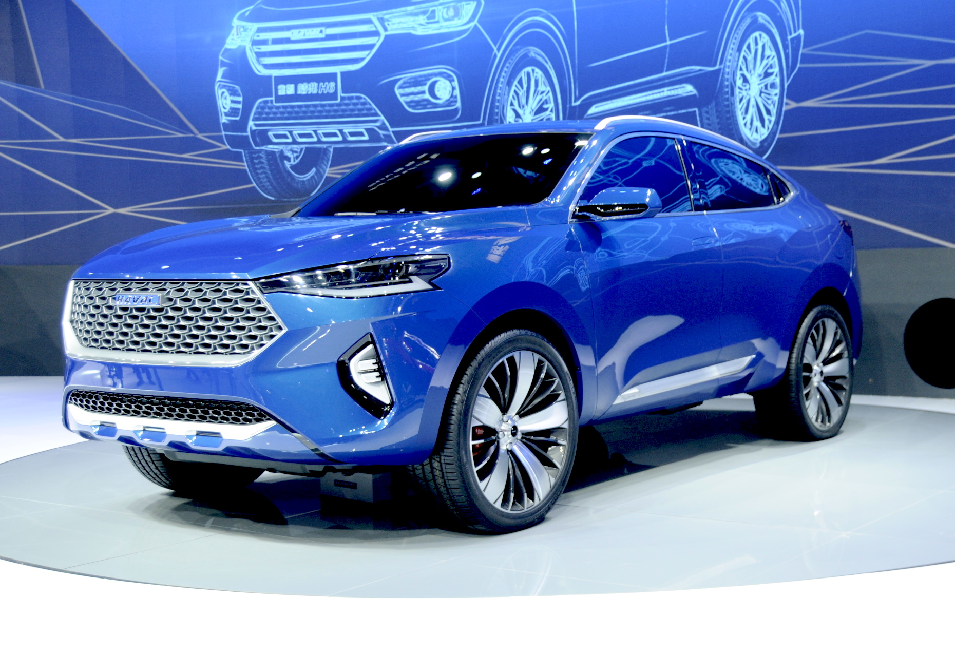 News Haval Hb 03 Concept Previews Hero Hybrid Coupe Suv