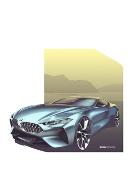 BMW Concept 8-Series Sketches