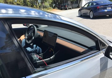 Tesla Model 3 Cabin Appears Achingly Minimalist