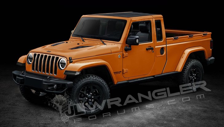 2018 Jeep Wrangler Ute Rendered, And It Looks Good