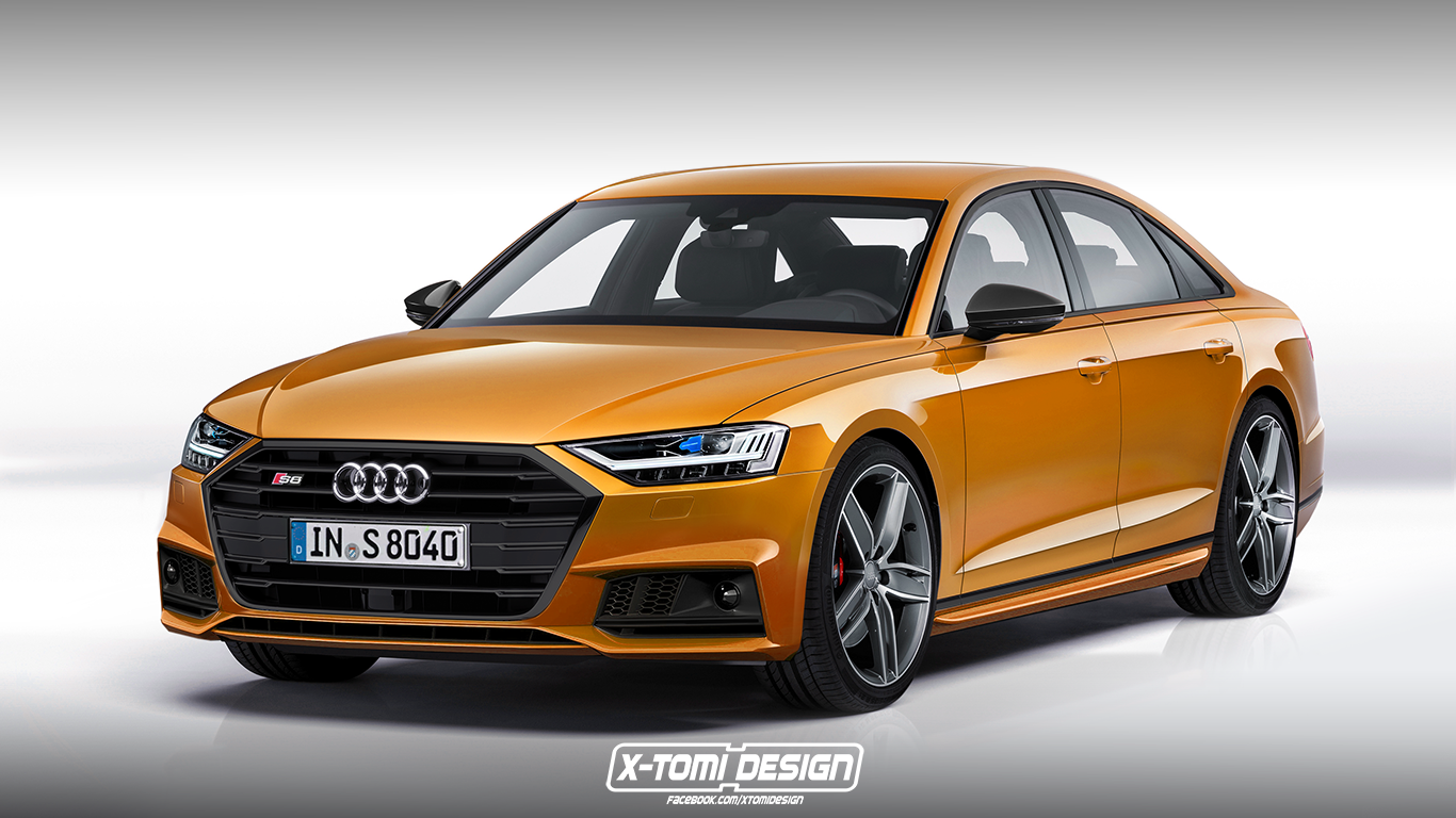 news 2018 audi a8 rendered as rs8 s8 avant coupe. Black Bedroom Furniture Sets. Home Design Ideas
