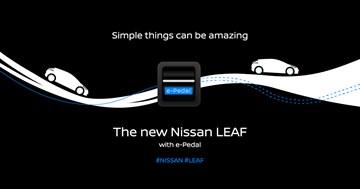 2018 Nissan LEAF - e-Pedal - Teaser