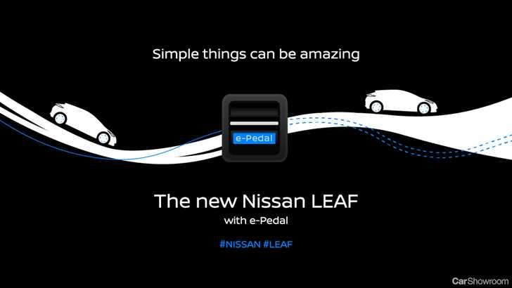 news nissan previews unique e pedal for 2018 leaf. Black Bedroom Furniture Sets. Home Design Ideas