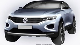 2018 Volkswagen T-Roc Sketch Reveals Some Details