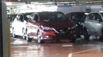 2018 Nissan Leaf Spotted At The Factory