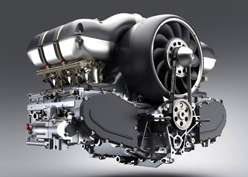 Singer, Williams Collaborate On 373kW Air-Cooled Flat-Six