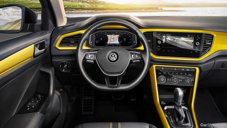 News volkswagen introduces t roc r line details engine for T roc spazio interno