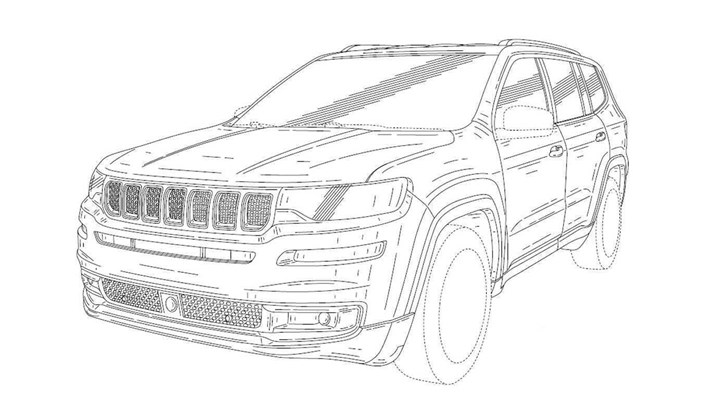 Jeep Grand Commander Leaked In Chinese Patents