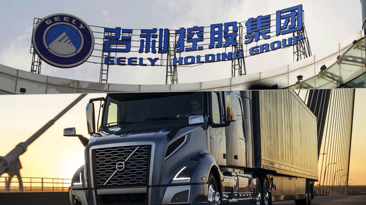Geely Buys 8.2% Stake In Volvo Trucks