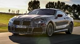 BMW 8-Series Saunters Around Aprilia Circuit