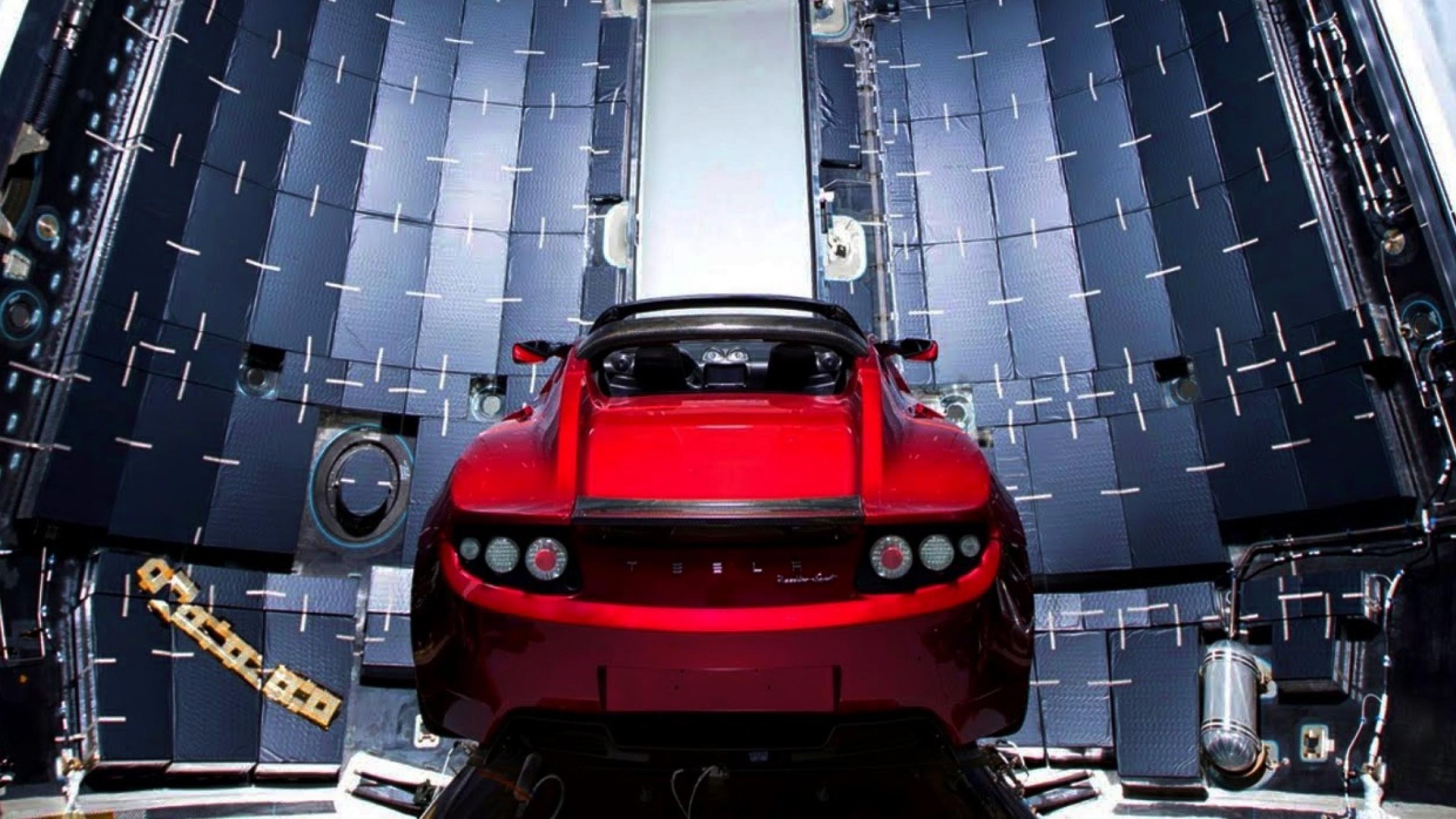 News Elon Musk S Tesla Roadster Is Now Near Mars