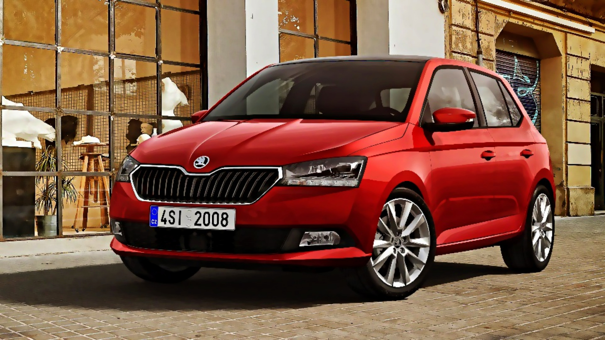 news skoda updates the fabia for 2018. Black Bedroom Furniture Sets. Home Design Ideas
