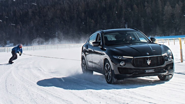 Maserati Levante S Pulls Snowboarder To Record Speeds – Gallery