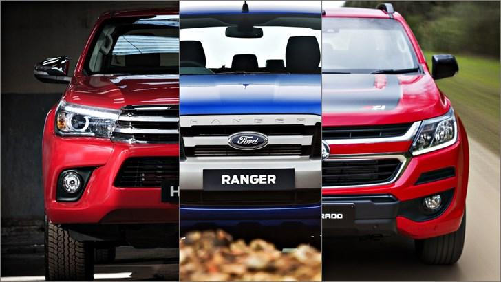 Review 2018 Shootout Ford Ranger Vs Toyota Hilux Vs Holden Colorado