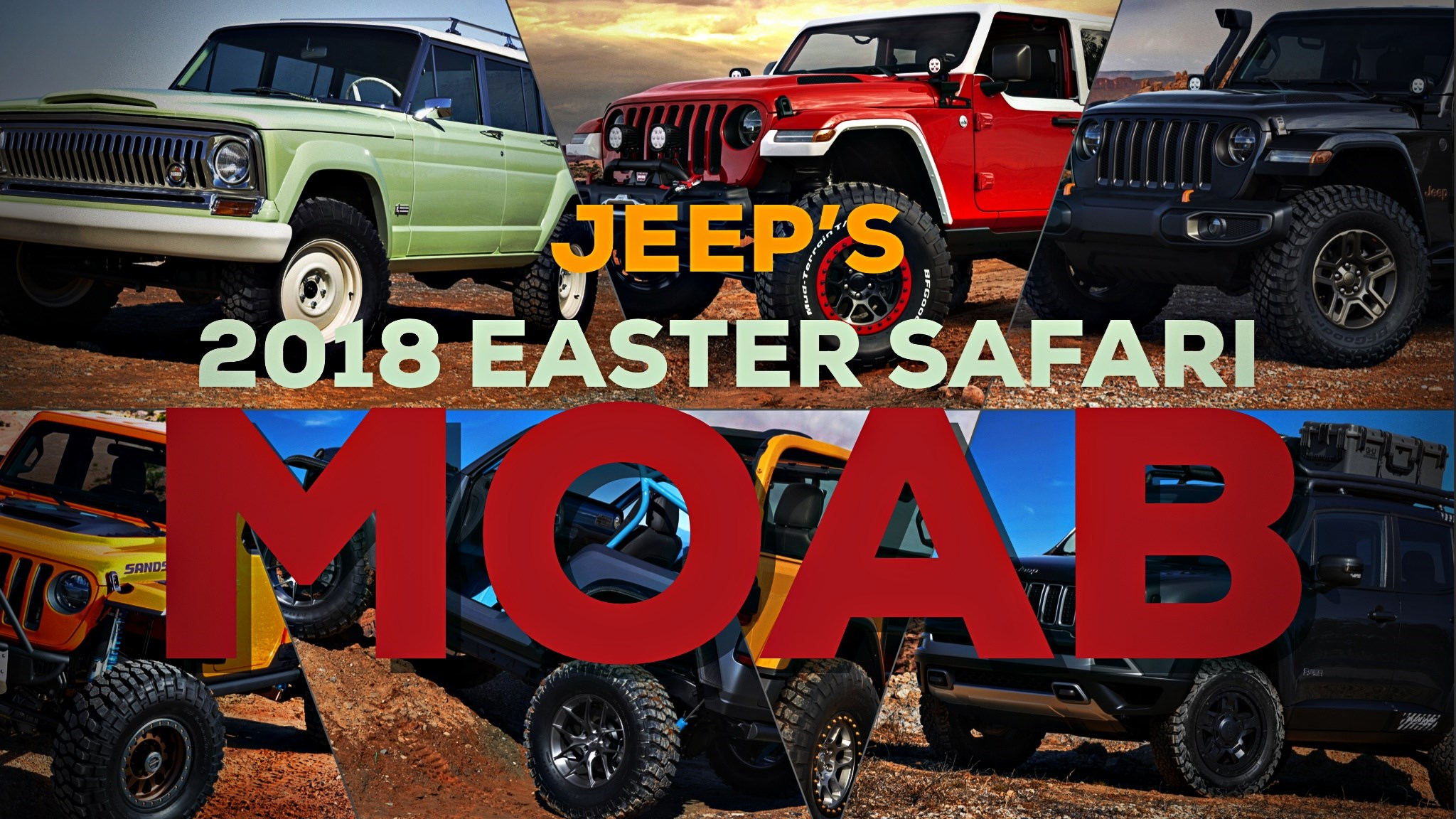 Jeep Reveals 7 Concept 4x4s Ahead Of Annual Easter Safari