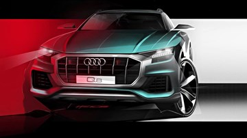 2019 Audi Q8 Shows Its Face – Gallery