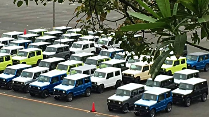 2019 Suzuki Jimnys All Lined Up Neatly Outside Factory – Gallery