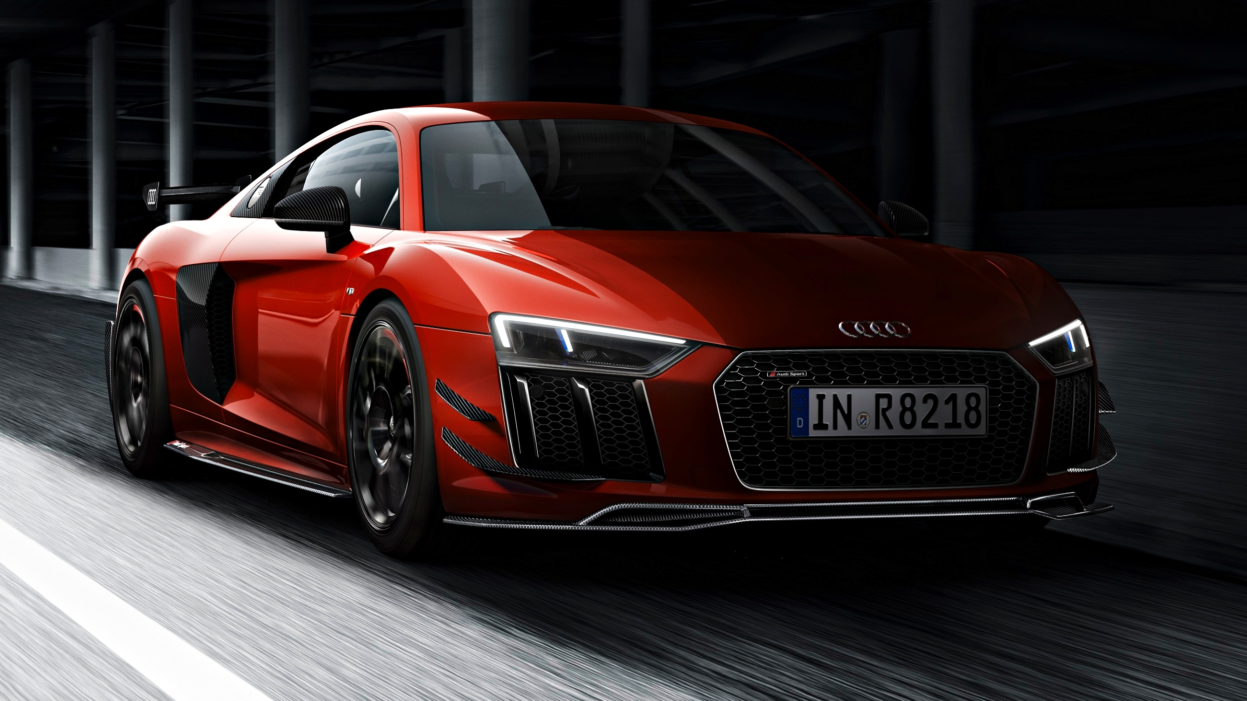 news 44 audi r8 v10 plus coupes gain full audi sport performance parts. Black Bedroom Furniture Sets. Home Design Ideas