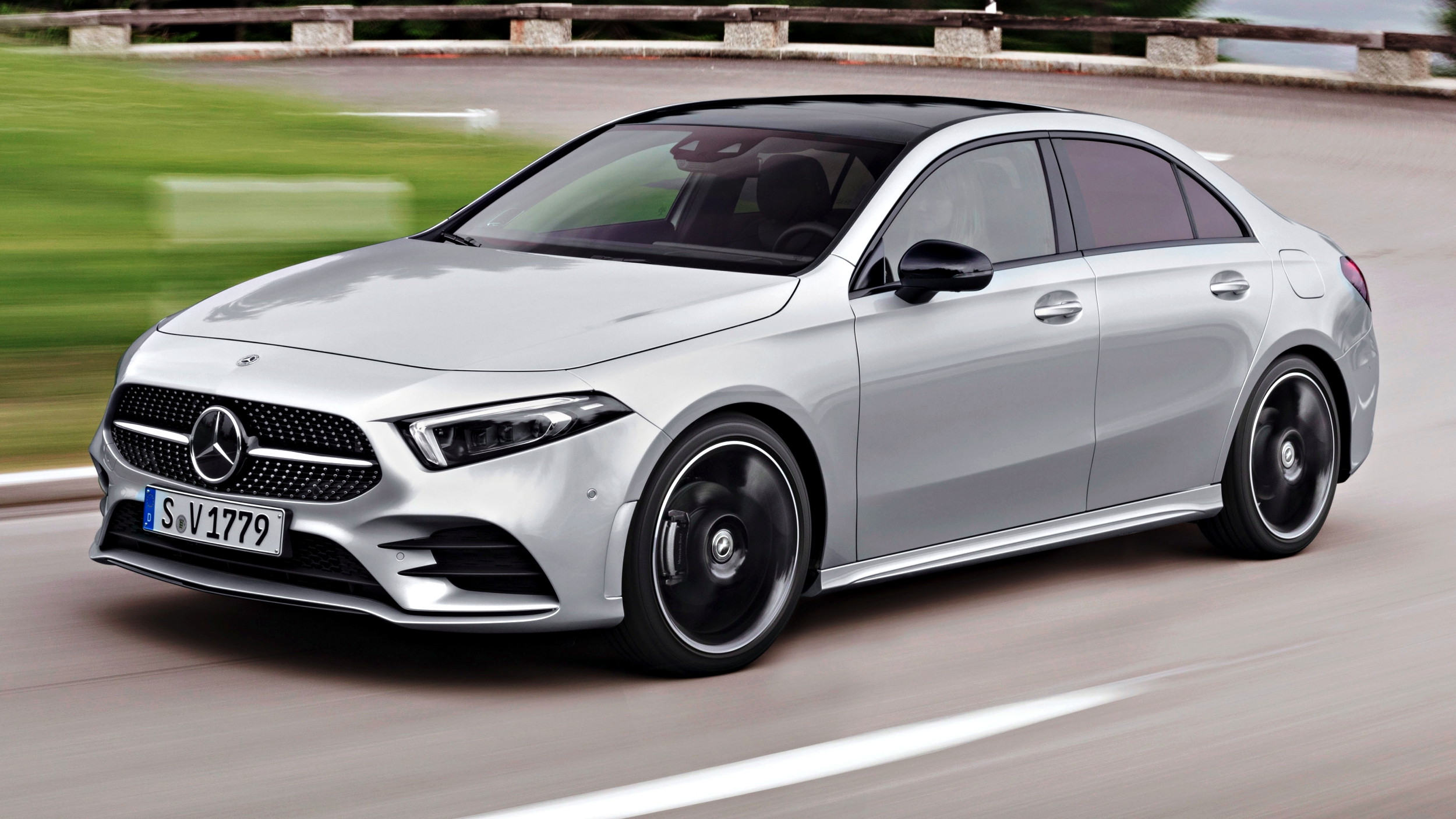 news mercedes benz a class saloon unveiled here q2 2019. Black Bedroom Furniture Sets. Home Design Ideas