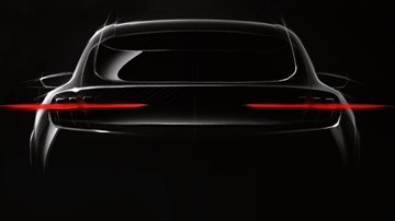 Ford Teases Mustang-Inspired Mach 1 EV Crossover
