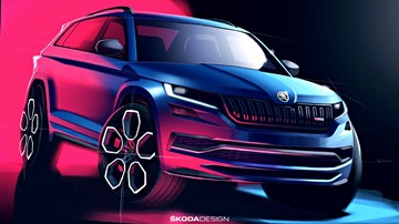 Skoda Sketches Kodiaq RS, Leaves Little To Imagination – Gallery