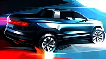 Volkswagen Teases Tiguan-Sized Ute Concept – Gallery
