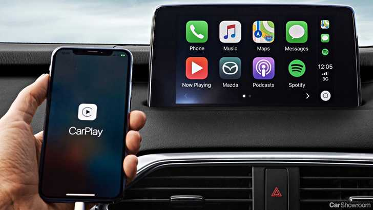 news mazda announces apple carplay android auto. Black Bedroom Furniture Sets. Home Design Ideas